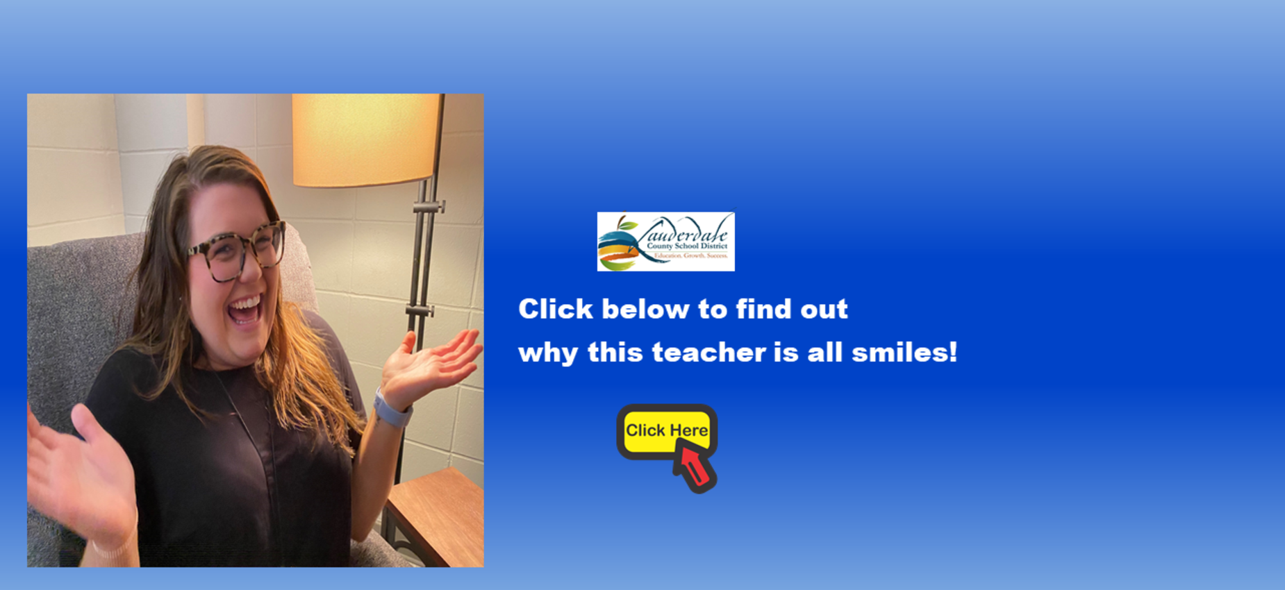 SEMS Decompression Room Teacher's Reaction Photo