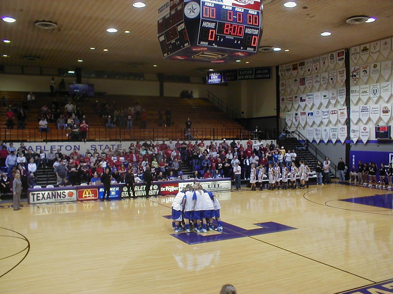 Playing in the Regional Finals at Tarleton in 2008