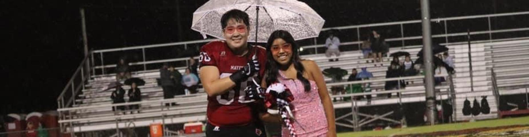 MHS 2021-2022 Homecoming Queen Jelsy Fabian and her escort Knox Story.