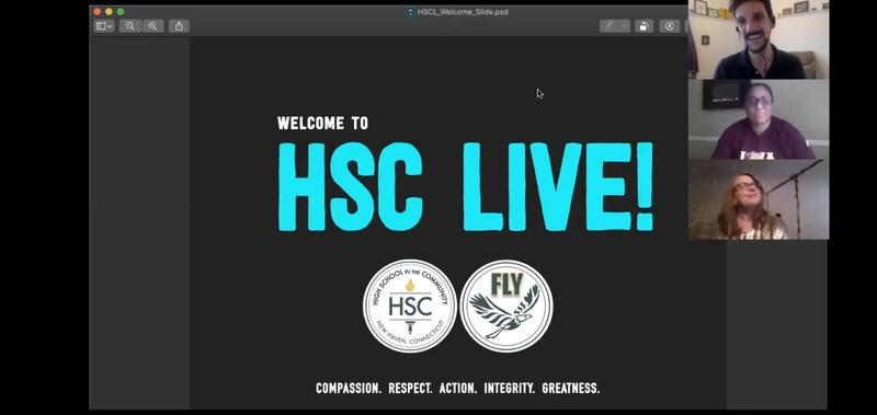 3 people on zoom and an HSC live slide