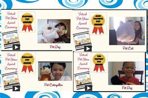 Virtual pet show awards collage