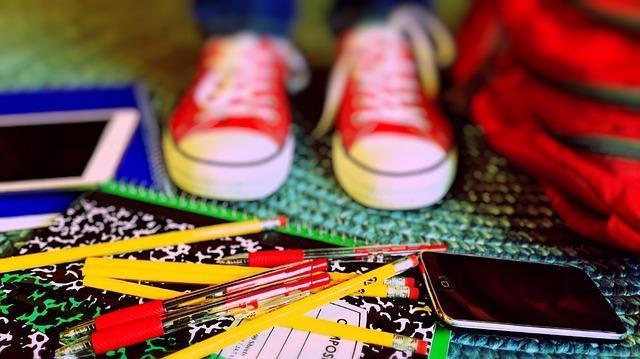 Image of school supplies.