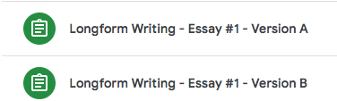 Essay Writing in the ELA Google Classroom