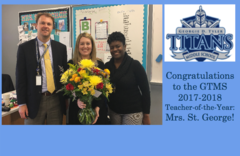 GTMS Teacher-of-the-Year Mrs. St. George
