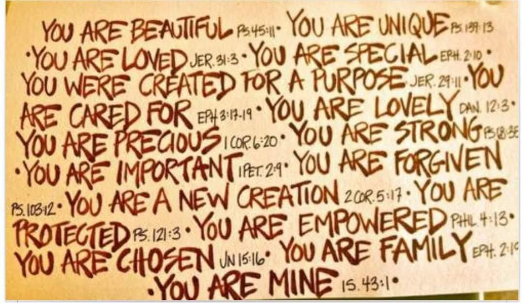 You are ......