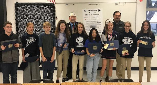 SVMS Patriot's Pen Honorees