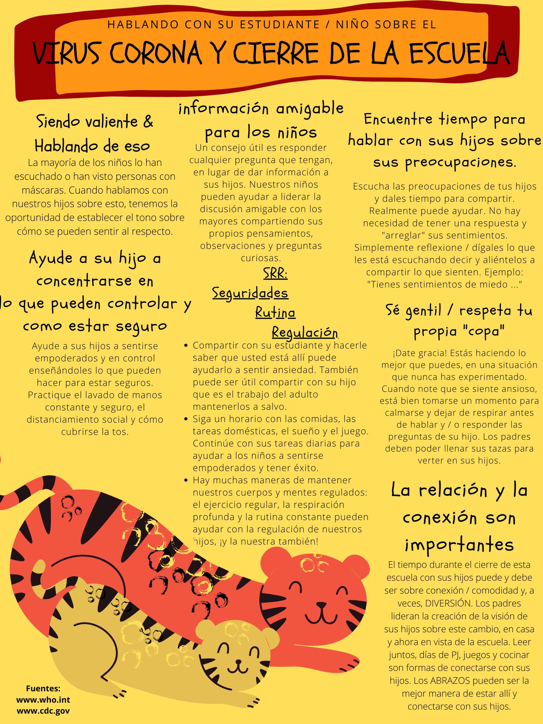 Spanish Talking Points for Kids - Coronoa-Virus