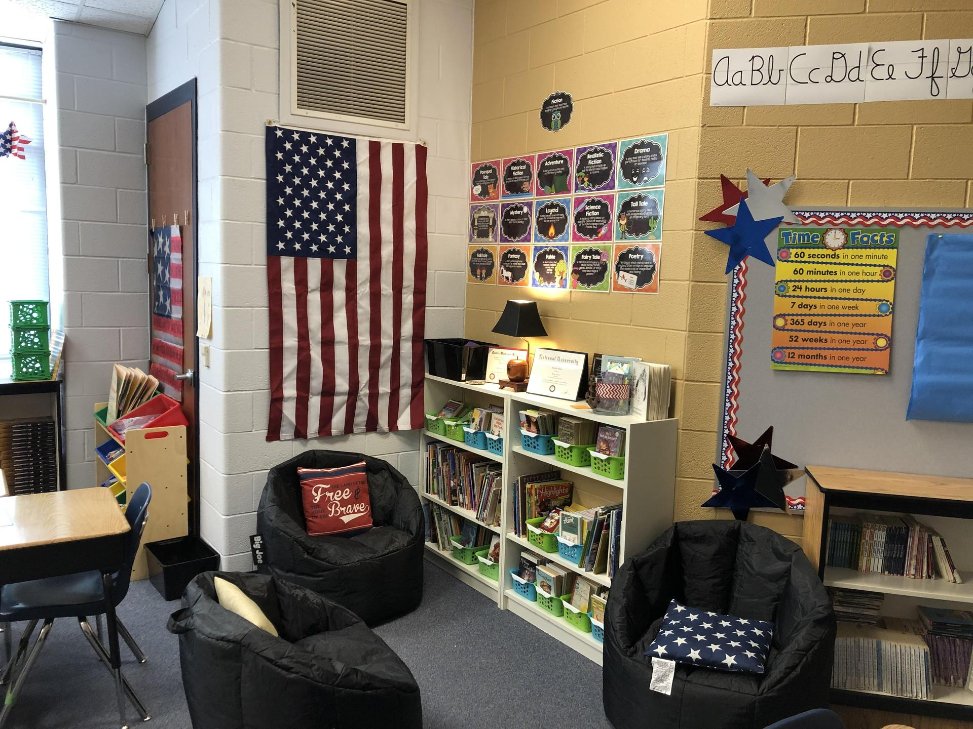 Comfy spaces for reading and discussing our writing