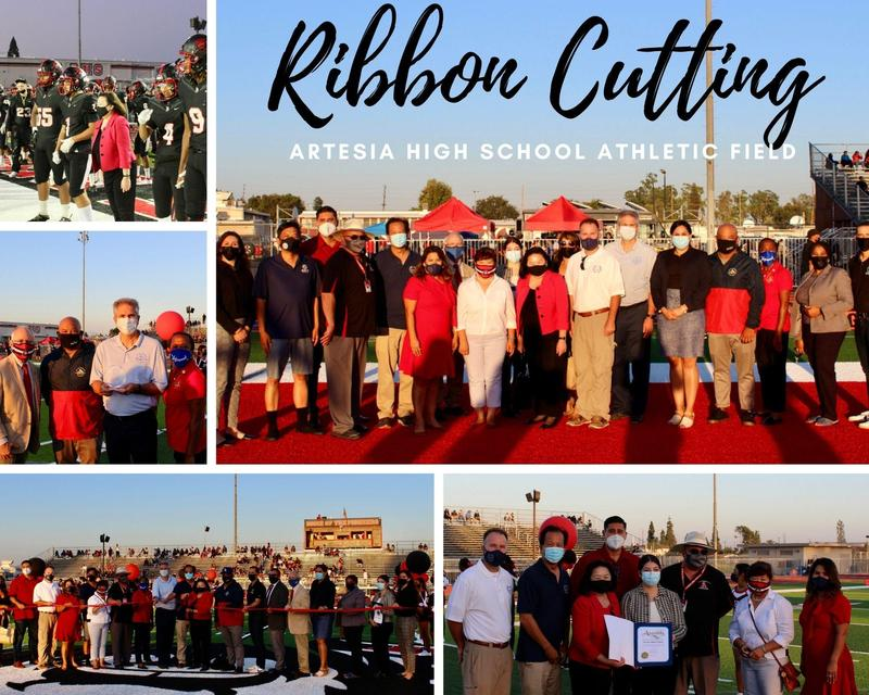 Celebrating the new field at Artesia High School