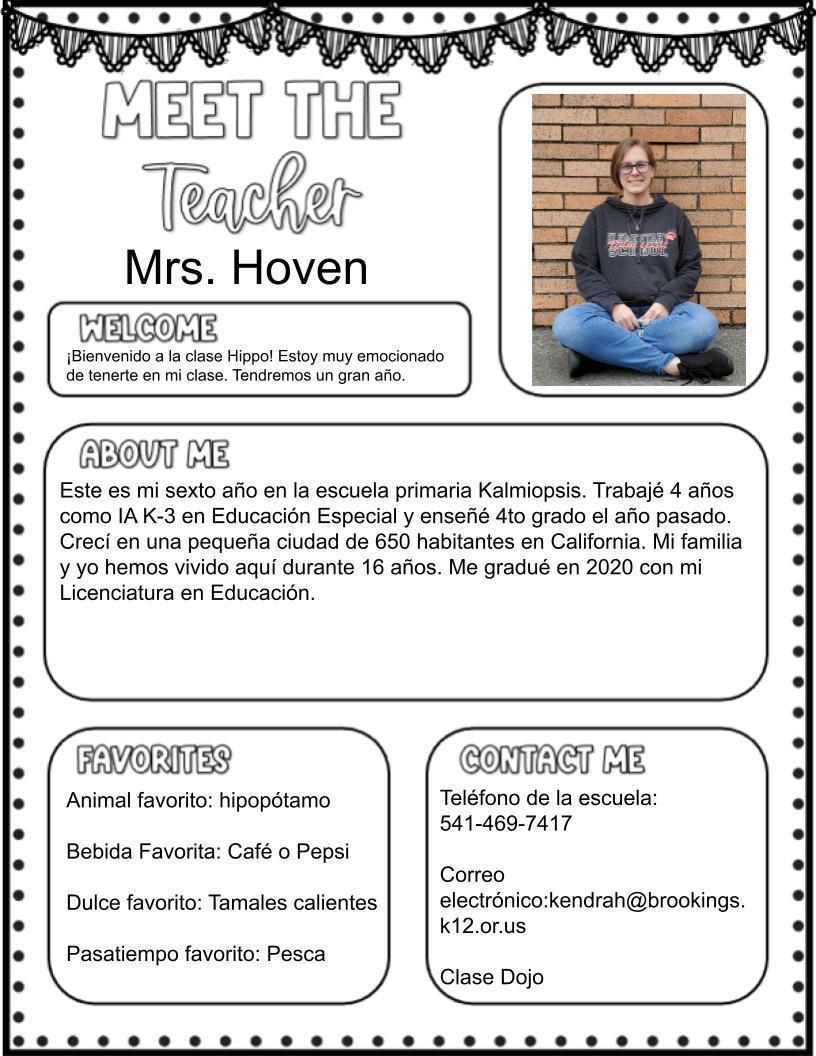 Mrs. Hoven (K)
