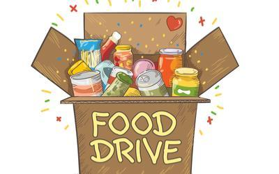 Image of collectable items for canned food drive.