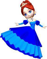 Princess drawing in blue dress