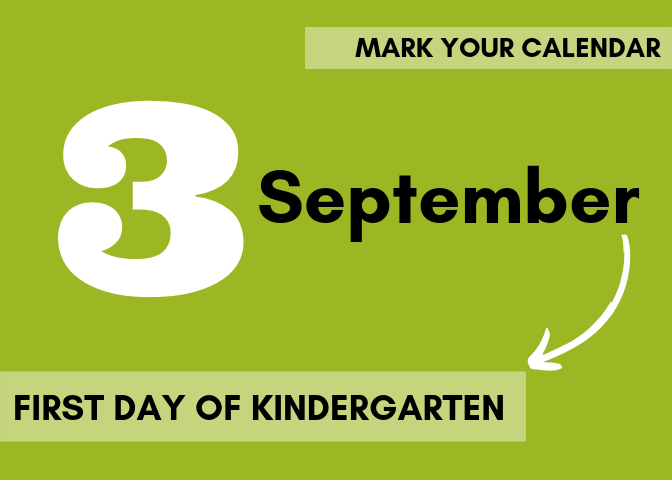 Kindergarten Start Date! September 3rd Thumbnail Image