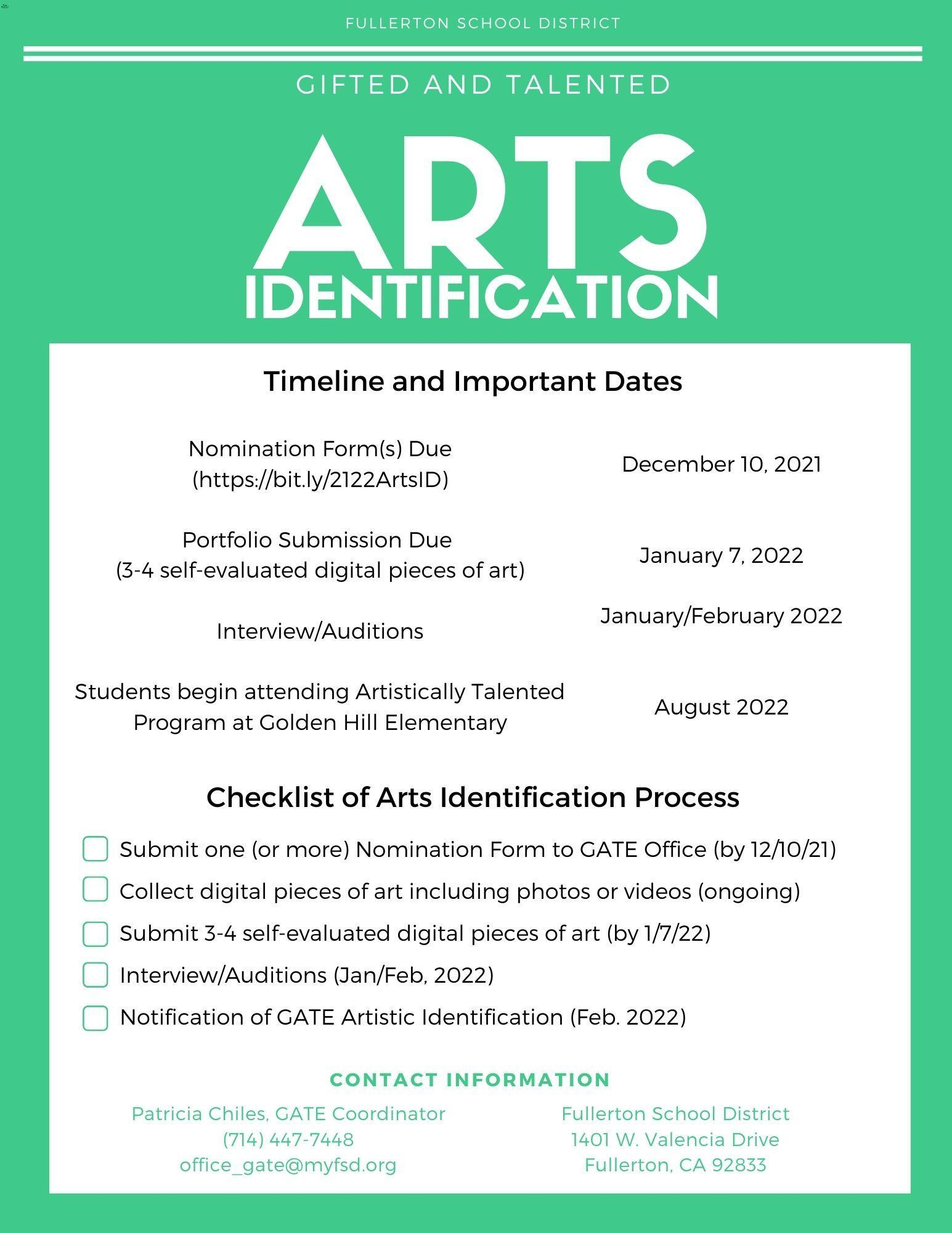 Arts ID flyer back