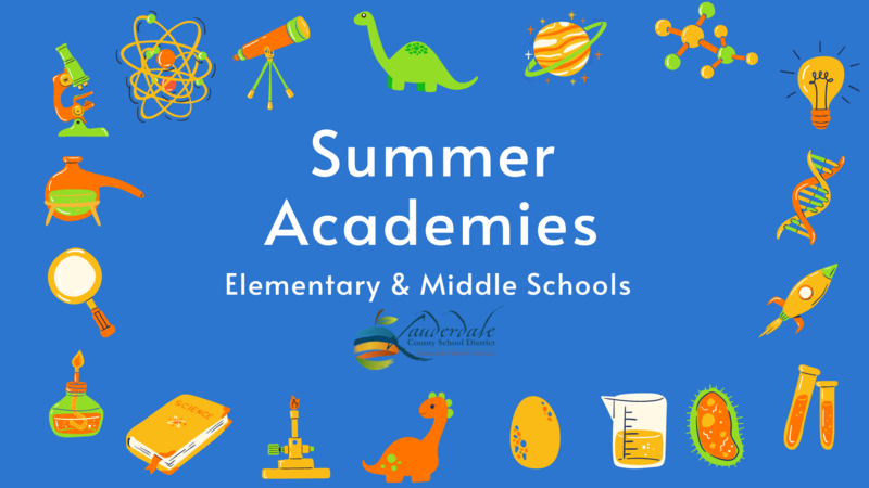 LCSD Summer Academies Elementary & Middle School Graphic