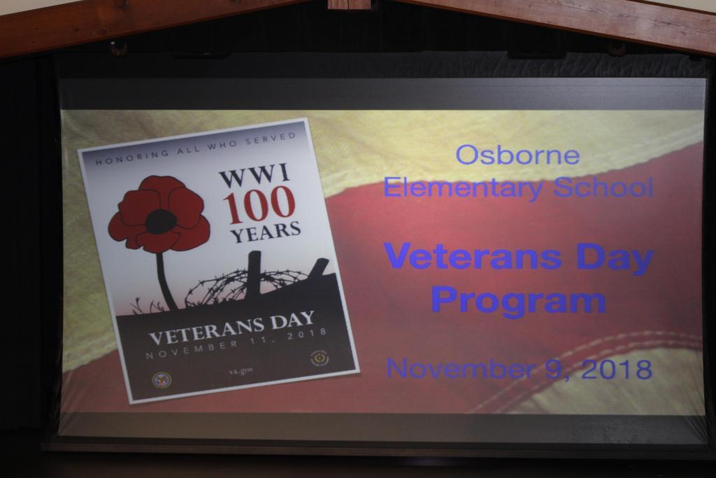 Veterans Day Program 2018