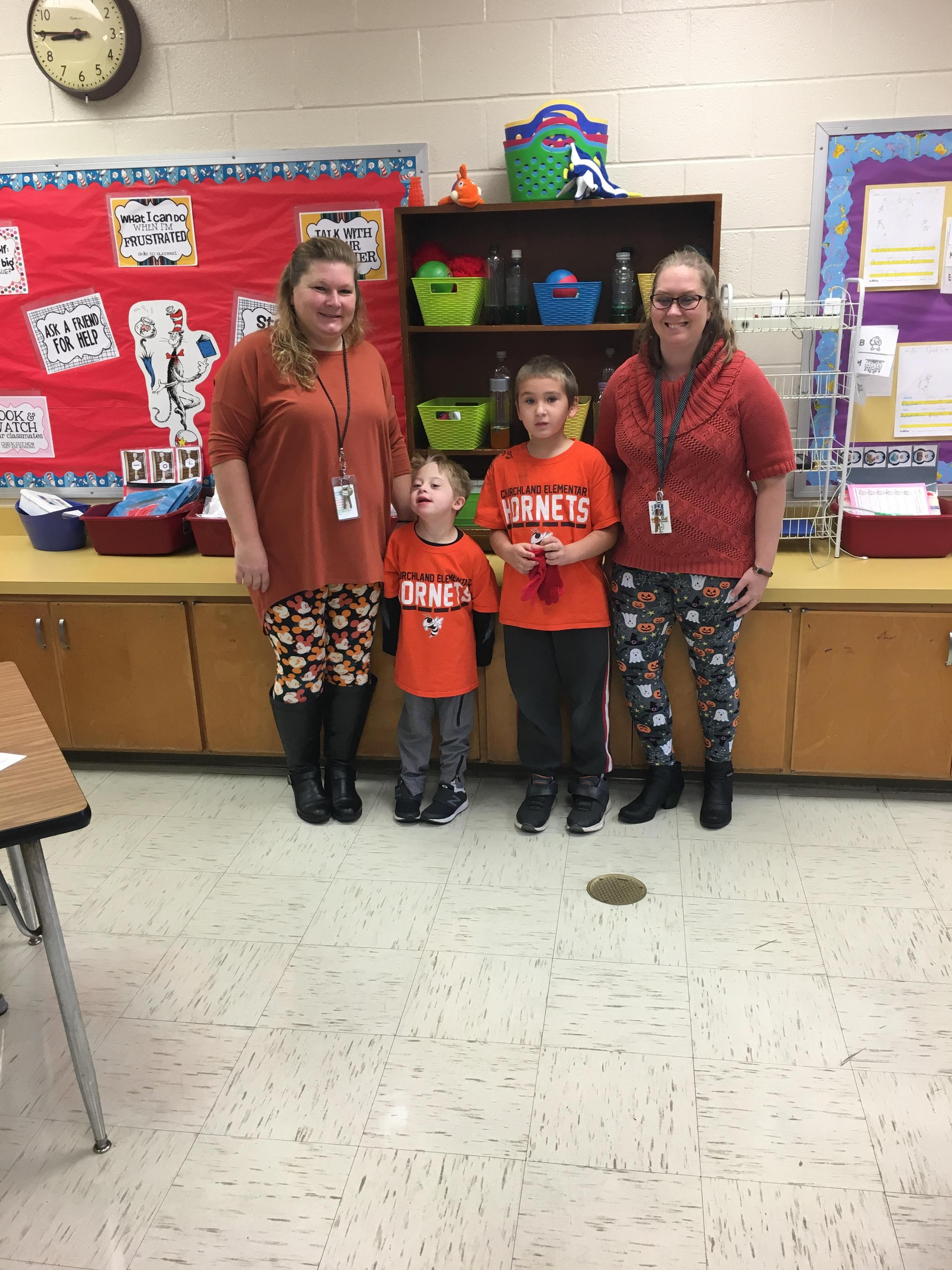 Bullying Prevention Week October 2018 Students and Staff wear orange to show support for Bullying Prevention