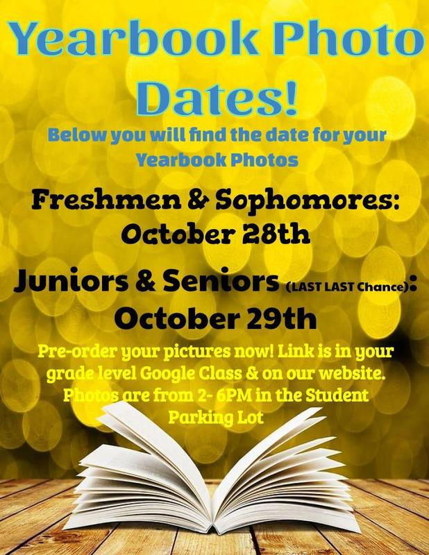 Yearbook picture dates for all levels