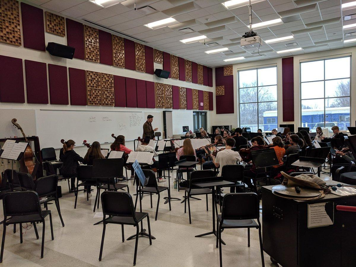 The new instrumental music room