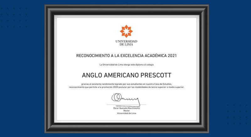 Prescott, Excelencia Académica 2021 por la Universidad de Lima Featured Photo