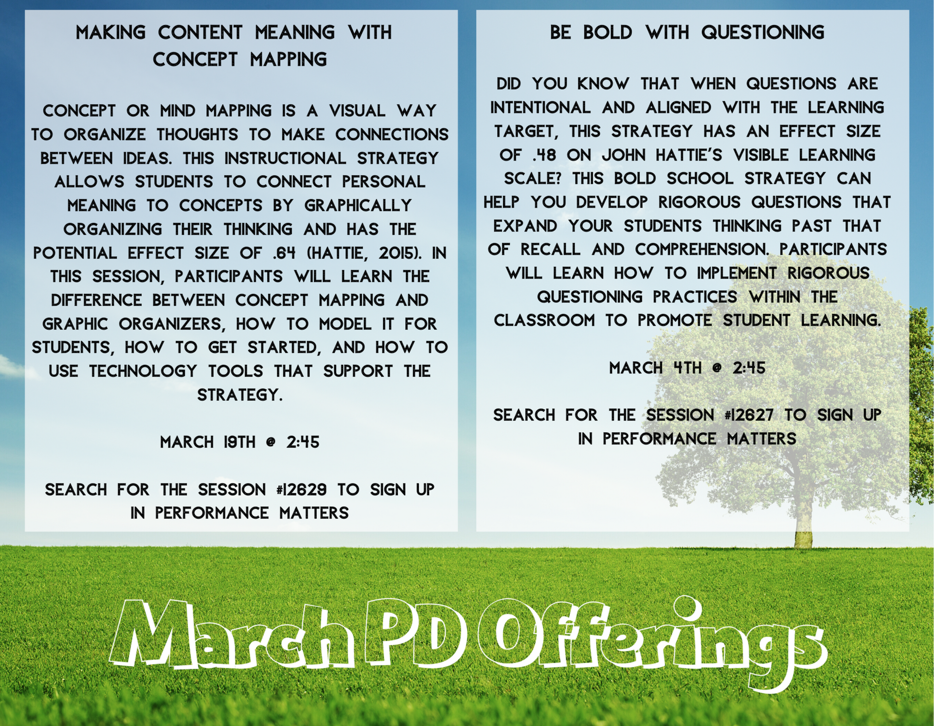 March PD Offerings