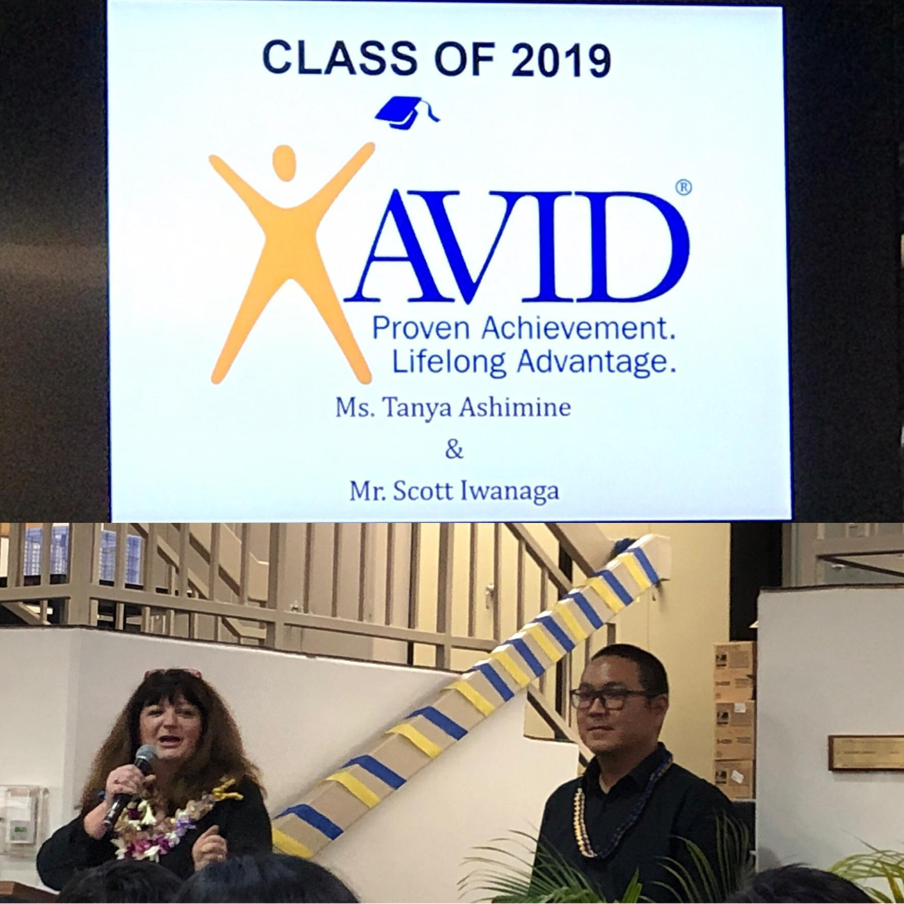 AVID Teachers at ceremony