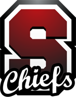 Red Capital Letter S with Chiefs scripted on bottom