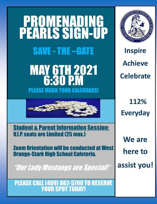 Promenading Pearls Sign-UP