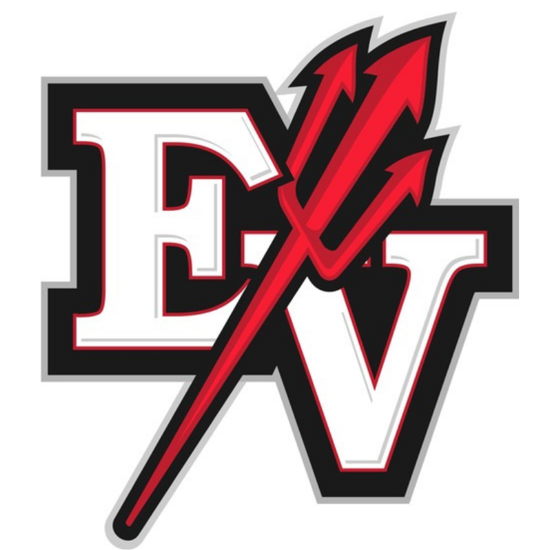EV with pitchfork logo