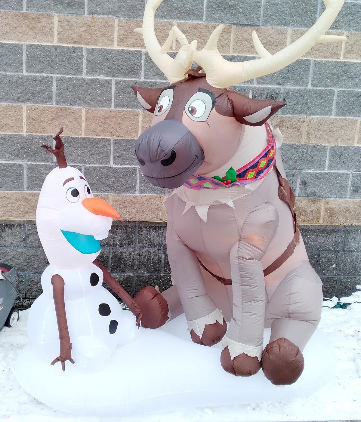 Inflatable Christmas characters