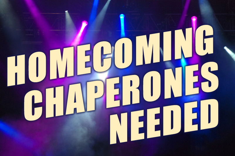 Image Homecoming Chaperones Needed
