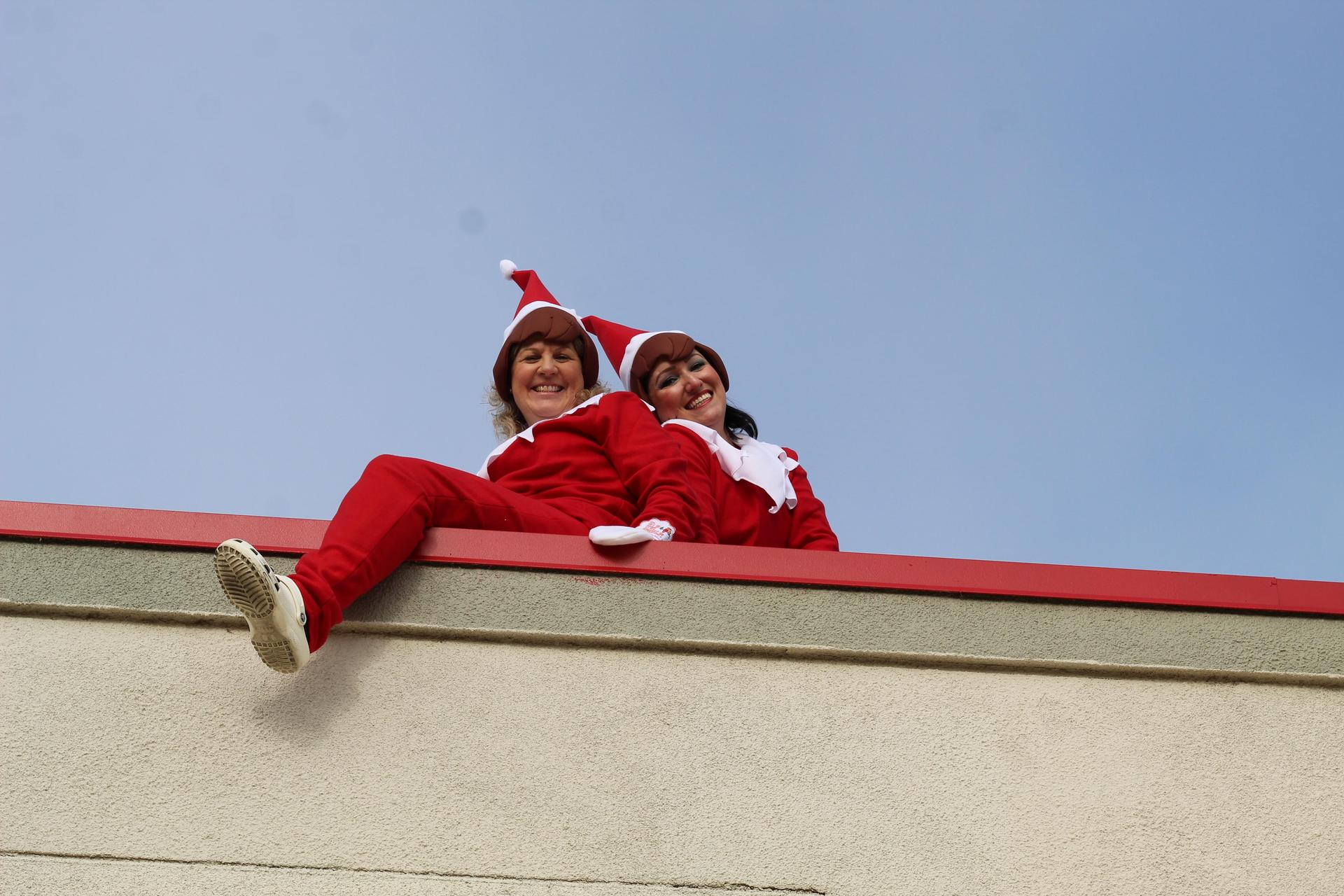 Two Elf on the Shelf sightings from the quad