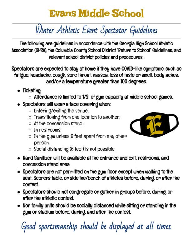 EMS Winter Athletic Guidelines