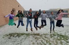 Snow Day for Cross Country Girls