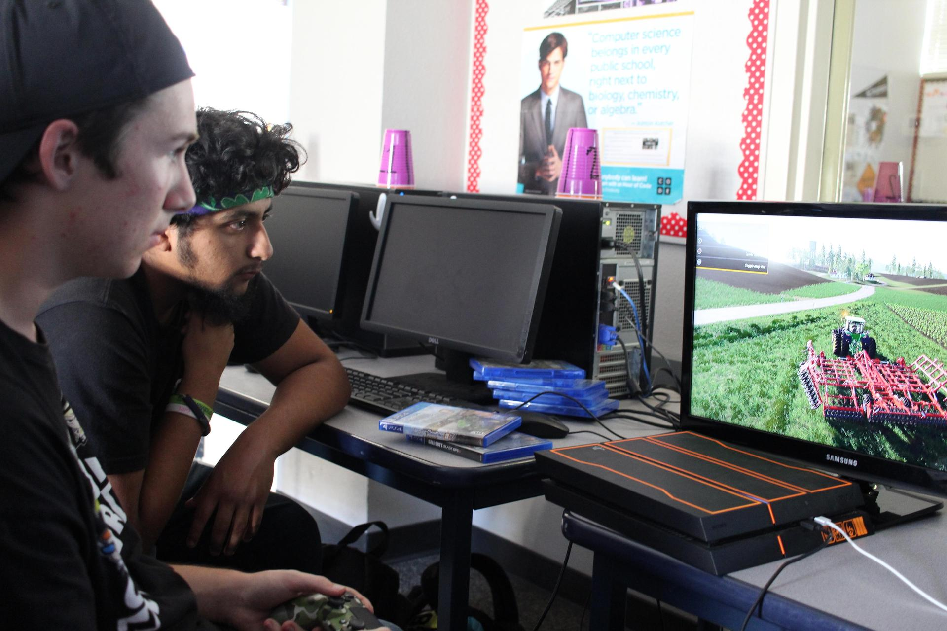 students enjoying Tech Club Game night