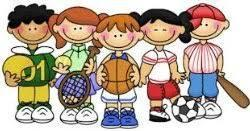 Pictures of kids with sports items