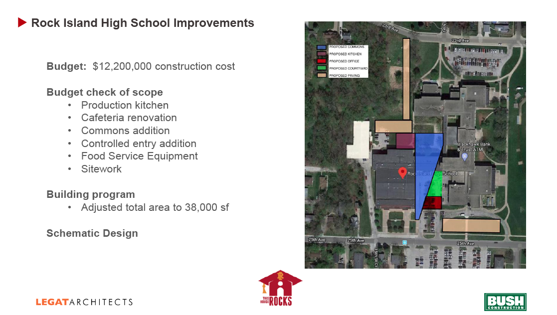 Rock Island High school construction budget