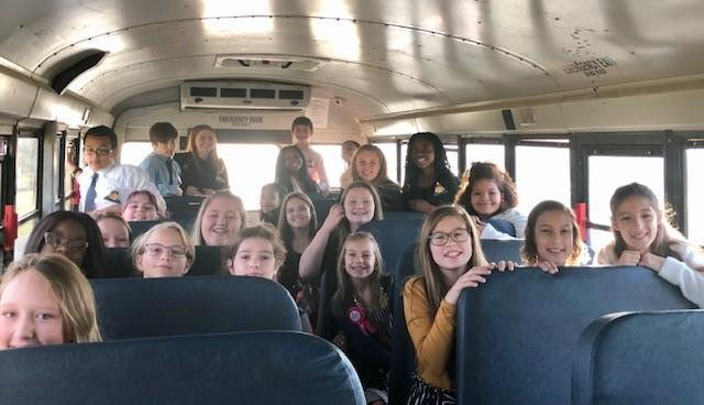 Bus ride to FBLA Fall Rally 2019