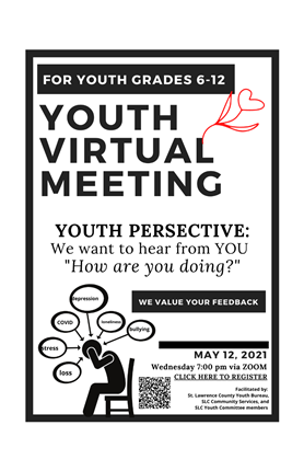Youth Virtual Meeting Flyer