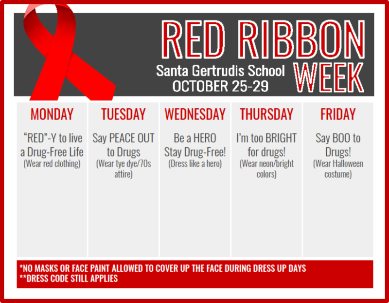 Red Ribbon Week October 25th - 29th Featured Photo