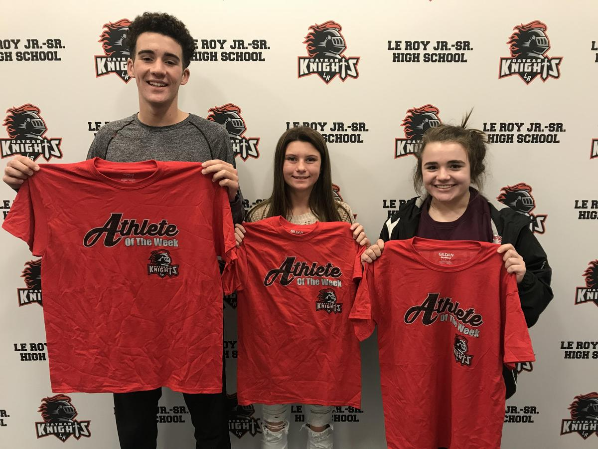 Athletes of the Week - G Gilligan, A Totten, A Woodworth