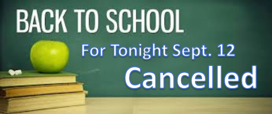 CANCELLED - Back to School Night Featured Photo
