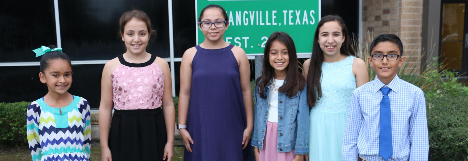 Mims Elementary Mustangville representatives.