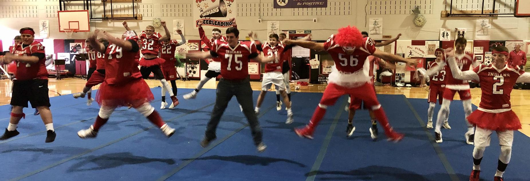 Pep Rally- Football Team's cheer routine