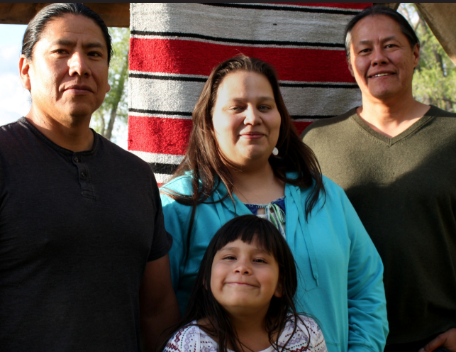 Image of a native american family.