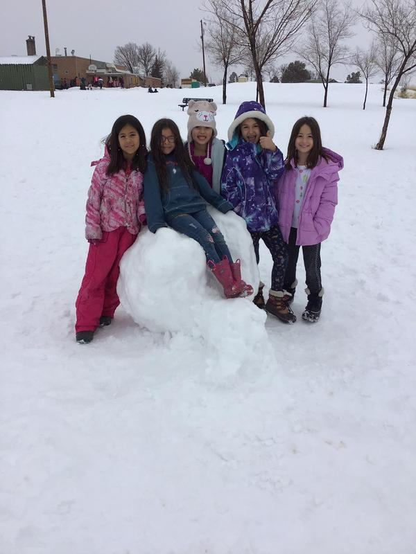 Girls on the BIG snowball