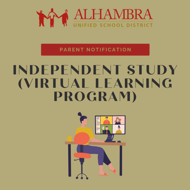 PARENT NOTIFICATION: INDEPENDENT STUDY (100% VIRTUAL LEARNING) Featured Photo