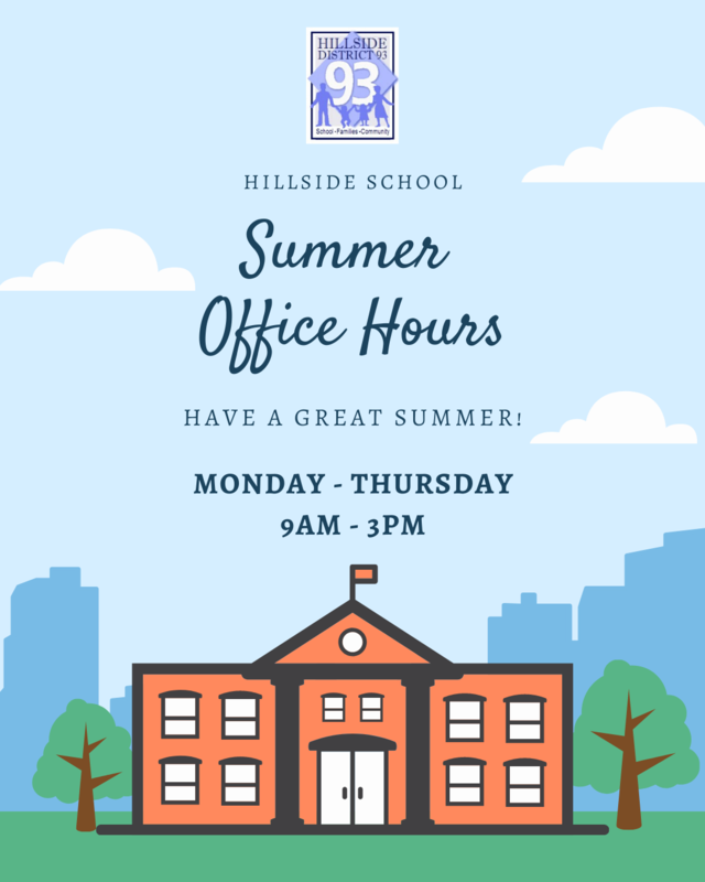 Summer office hours is from 9am to 3pm Monday through Thursday