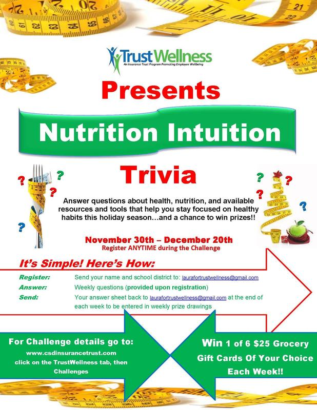 Register Now For The Nutrition Intuition Trivia Challenge! Thumbnail Image