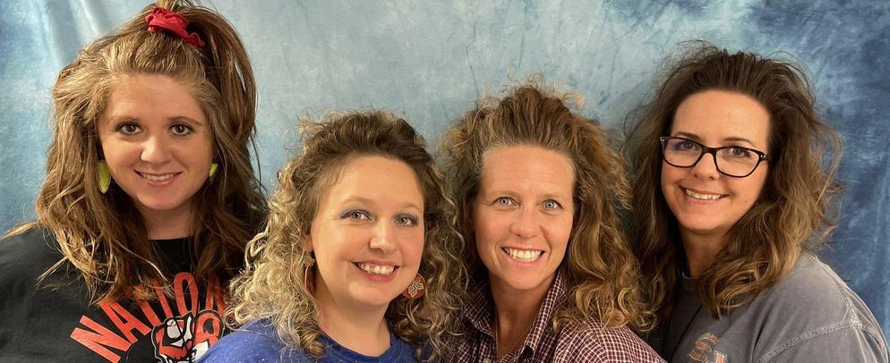 Teachers with Big 80s Hair Styles